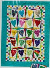 Hearts! Hearts! Hearts! - applique & pieced quilt PATTERN - Kariepatch