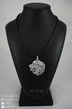 Bernese Mountain Dog, silver covered necklace, high qauality Art Dog