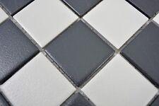 Mosaïque carreau céramique noir blanc cuisine bain mur 14-0103-R10_b | 1 plaque
