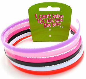 ICB - 6 Thin Alice Head Bands Mixed Colours Set