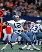 NFL 1977 Dallas Cowboys QB Roger Staubach & Tony Dorsett Color 8 X 10 Photo Pic