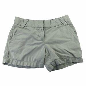 J. Crew Women's Size 2 City Fit Khaki Classic Twill Chino Shorts