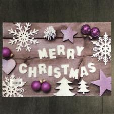 € 53,96/qm / Fußmatte Weihnachten Sterne Schrift Des.939 Lila / 40 cm*60 cm