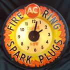 Vintage AC Fire Ring Spark Plugs Change Now Electric Wall Clock