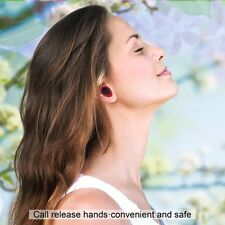 Wireless Bluetooth Stereo Earbuds, Charging Dock & Ear Hooks for iPhone, Samsung
