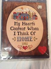 nmi Counted Cross Stitch Kit HOME sampler with oval wood matting
