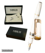 TIBALDI BY MONTEGRAPPA DIVINA IVORY COLORED ROSE GOLD FOUNTAIN PEN MEDIUM NIB