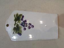 ancienne planche a decouper en faience alsacienne art nouveau 1900 raisin