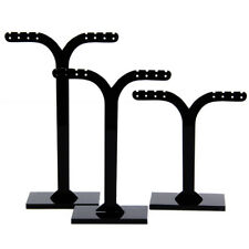 3pcs Acrylic Earrings Jewelry Holder Display Stands Showcase Organizer