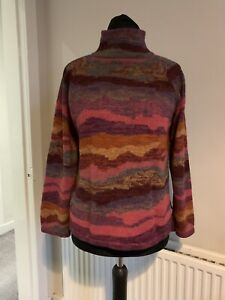 Spirit Of The Andes 100% Alpaca Jumper Turtle Neck Boho Size Large *FLAWS*