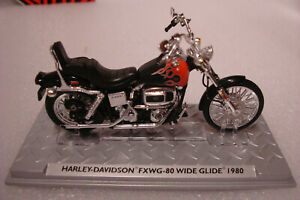 Harley Davidson 1980 FXWG-80 Wide Glide -topmodell 1:24