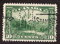 #OA155 - Canada - 1928 - 10c - OHMS Perfin -  Used - F -  superfleas - cv$35