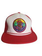 Rare Vintage Camp Silverado 1980s 80s 1986 Trucker Hat Cap Boy Cub Scouts Vtg