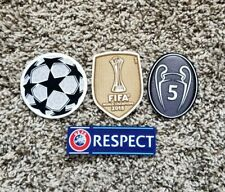 FC Barcelona 2015 UEFA CHAMPIONS LEAGUE SET Soccer patch 5 TROPHY badge Messi