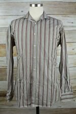 Etro Milano Shirt Size 40 Medium Multi-Colored Striped Cotton Long Sleeve #17