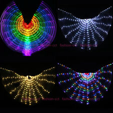 LED Isis Wings Glow Light Up Belly Dance Costumes Carnival Performance Clothing
