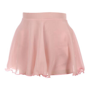 Pink Ice Skating/Dance Skirt, Short Skirts for Hip with Liner Shorts