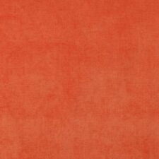 D238 Orange, Solid Durable Woven Velvet Upholstery Fabric By The Yard