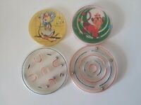 Vintage Pin Ball Dexterity Puzzle ~ Mazes ~ Patience ~ Lot of 4 ~ Monkey Mouse