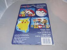 NEW 4 POKEMON PIKACHU PRINT DECORATIONS PARTY SUPPLIES 1998 Pikachu