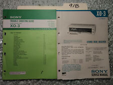 Sony xo-3 service manual original repair book stereo tape deck troubleshooting