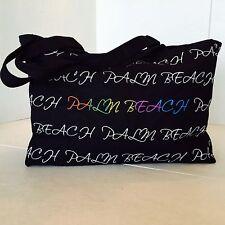 "LGBT Palm Beach Pride - EXCLUSIVE ""Robin Ruth"" Black/Rainbow Canvas Tote/Bag"
