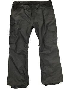 Burton Mens XXL Black Cargo Ski Snowboard Pants