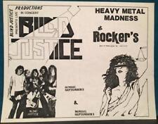 BLIND JUSTICE~ORIG 1980s CONCERT FLYER~PHOENIX ARIZONA~HEAVY METAL MADNESS