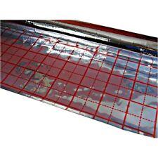 50m2 Alufolie für Fußbodenheizung Rasterfolie Fußbodenisolierung KV mit GRATIS