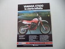 advertising Pubblicità 1987 MOTO YAMAHA XT 600 4 VALVES