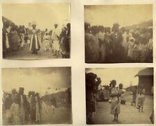 4 Photo Albuminé Afrique Danse du Diable Devil Dance Vers 1880