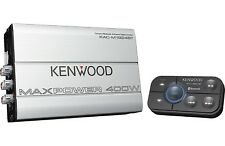 KENWOOD KAC-M1824BT 4-CHANNEL BLUETOOTH BOAT MARINE MOTORCYCLE AMP 400 WATT MAX