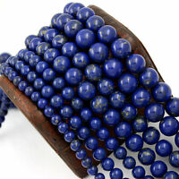 Hot Natural Lapis Lazuli Round Gemstone Loose Spacer Beads 4mm 6mm 8mm 10mm 12mm