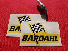"Pair of  5"" Bardahl motor oil stickers"