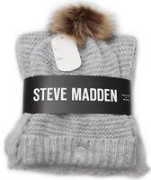 Steve Madden Gift Set; Hat & Scarf/Muffler Gray Holiday Gift Set