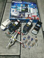 Großes Playmobil Polizei Set Station mit Gefängnis,  Fahrzeuge, Hubschrauber....