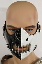 New Face Mask Mouth Muzzle Costume Black White Halloween Hannibal Motorcycle S&M