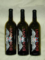 """(3) bon jovi 25th anniversary bottles(empty) limited  of 1000  sold """"AS IS"""""""