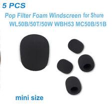 5x Pop Filter Foam Windscreen for Shure WL50B/50T/50W WBH53 MC50B/51B LavalieMic