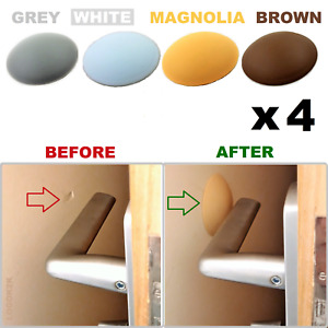 4 x Wall Protector   Self Adhesive  Wall Door Stop  Handle Bumper Guard Stopper