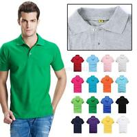 New Summer Men's 100% Cotton Casual sports Polo Shirts Short sleeve T-shirt
