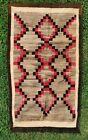 Native American Woven Rug Blanket Antique Vintage Geometric Pattern