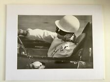 New listing Stirling Moss Signed Mounted Picture