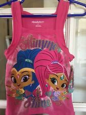 Shimmer And Shine Size 3T Fuschia Tank Top W/characters NEW W/Tags