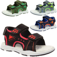 BOYS KIDS SPORTS FAUX LEATHER TOUCH STRAP OUTDOOR HIKING CASUAL OPEN TOE SANDALS
