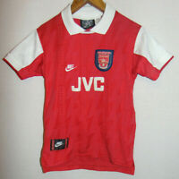 RARE1994-1996 Arsenal JVC Nike Home Football Shirt Jersey Small Boys