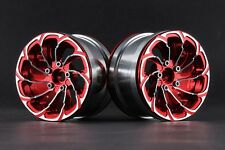 "Jazrider Aluminum 2.2"" 10-Spokes Cyclone Style Wheels(Red)For Axial/HPI/Traxxas"