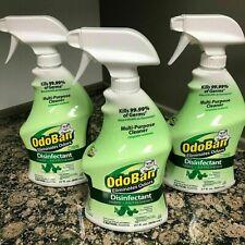3-Pack Odoban Disinfectant Spray - Fabric & Air Freshener - Eucalyptus Scent