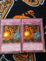 Yugioh Chain Burst 1st edition silver rare RDS x2
