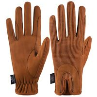 Horse Riding Gloves Ladies Dublin Track Shires Equestrian Brown